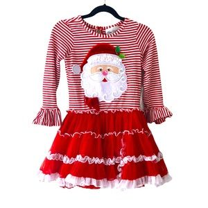 Rare Editions Santa Christmas Dress Petticoat 6-7